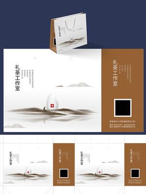 大气中国风茶叶手提袋设计