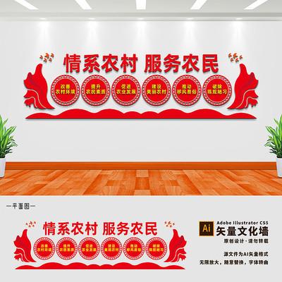 情系农村乡村振兴文化墙
