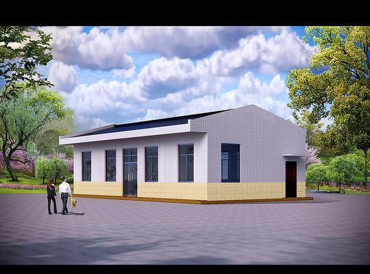 食堂建筑模型