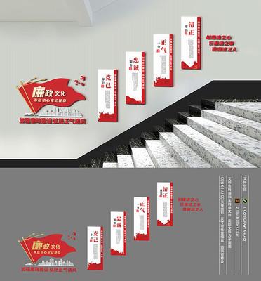 廉政文化楼梯文化墙