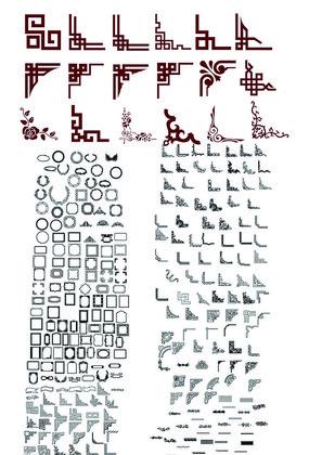 中式边框万字格