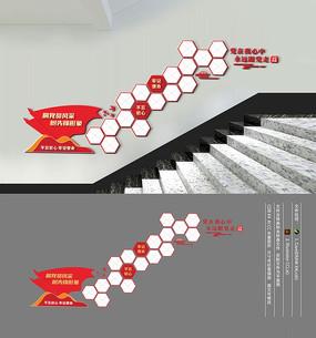 党员风采楼梯文化墙
