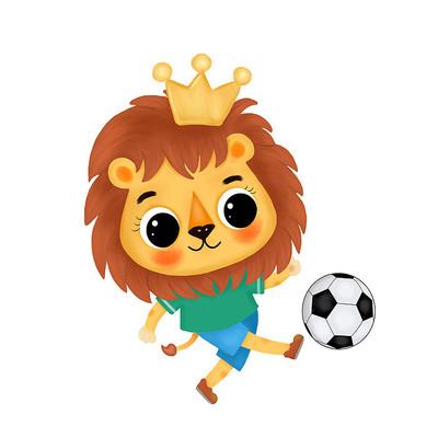 小狮子踢足球