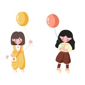 儿童拿气球教师节