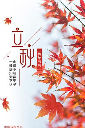 立秋节日节气海报
