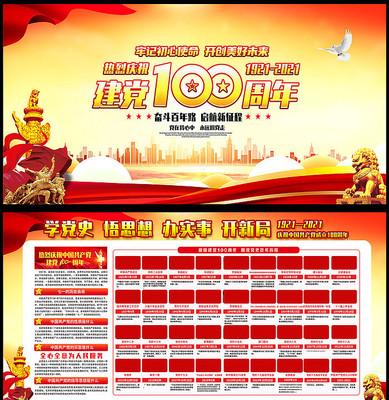 庆祝中国共产党成立100周年宣传栏