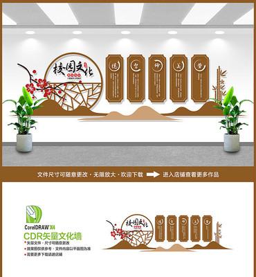中国风德智体美劳校园文化墙