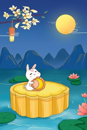 中秋玉兔月饼