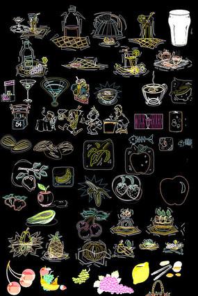 卡通花纹图案CAD图纸