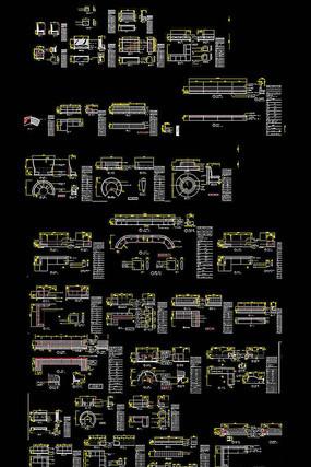 卡座CAD图库