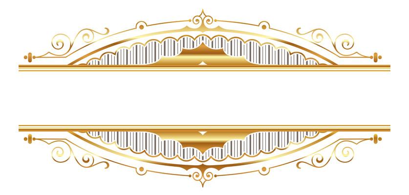 金色标题框