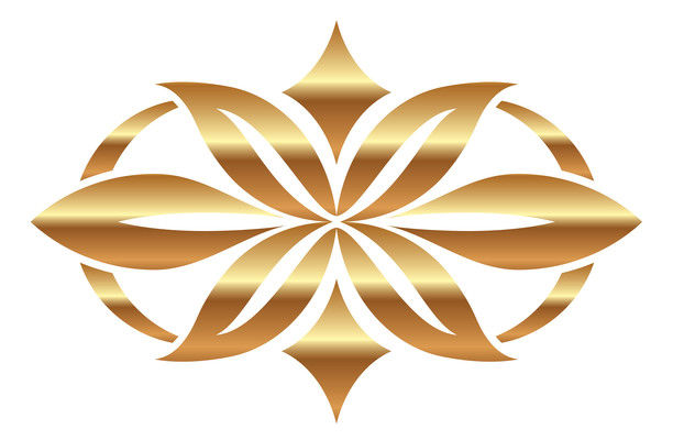 金色欧式花纹