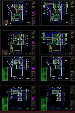四合院别墅样板间全套施工图CAD带效果图