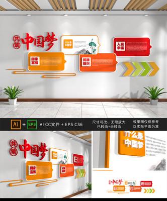 中国梦党建展厅文化墙