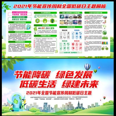 2021全国节能宣传周和低碳日展板