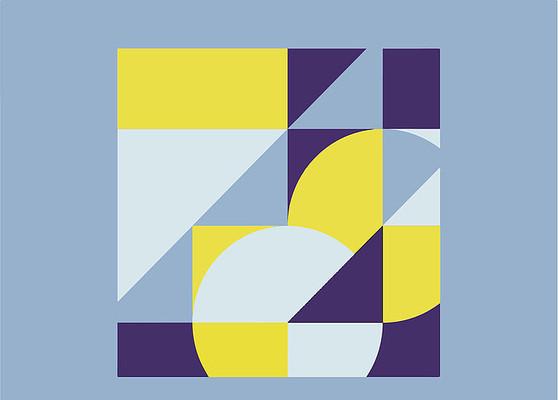 简单的色块拼接图案设计2ai