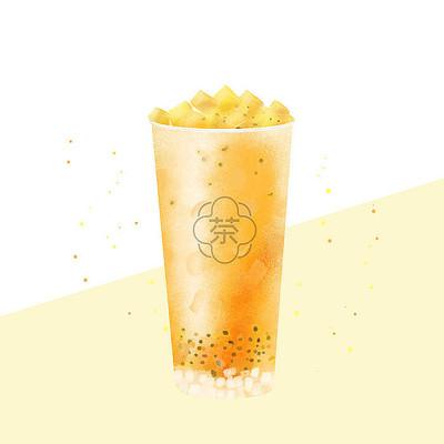 手绘奶茶插画