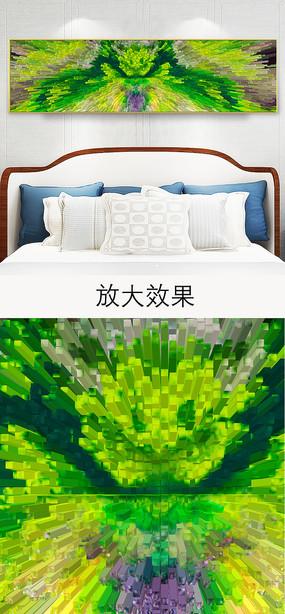 现代简约抽象河流时尚酒店装饰床头画