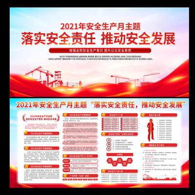 安全生产月展板活动宣传栏展板设计