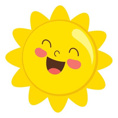 卡通太阳手绘