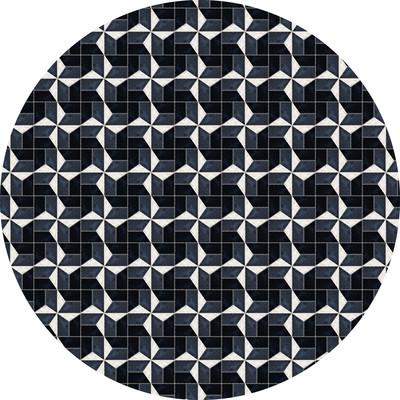 动物毛皮圆形地毯图案设计