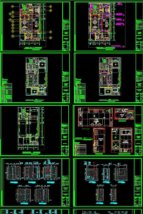 轻奢新中式别墅全套施工图CAD