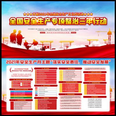 全国安全生产专项整治三年行动计划宣传展板