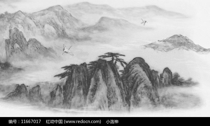 水墨古风山水图片