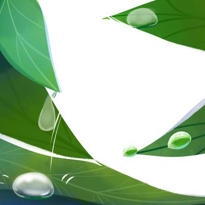 原创元素叶子露水