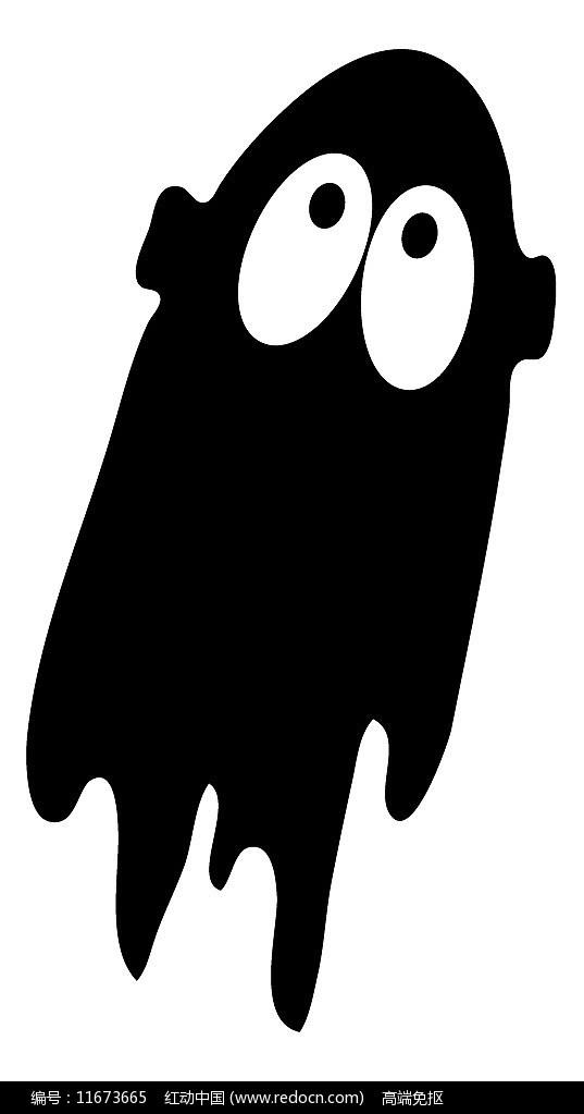 黑色抽象的幽灵图片
