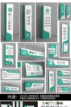 医院VI导视系统指示牌设计