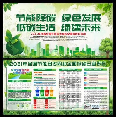 2021节能宣传周和低碳日展板