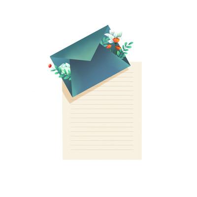 教师节元素信封