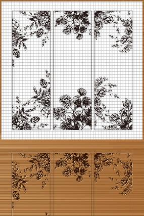花纹雕刻装饰矢量图案