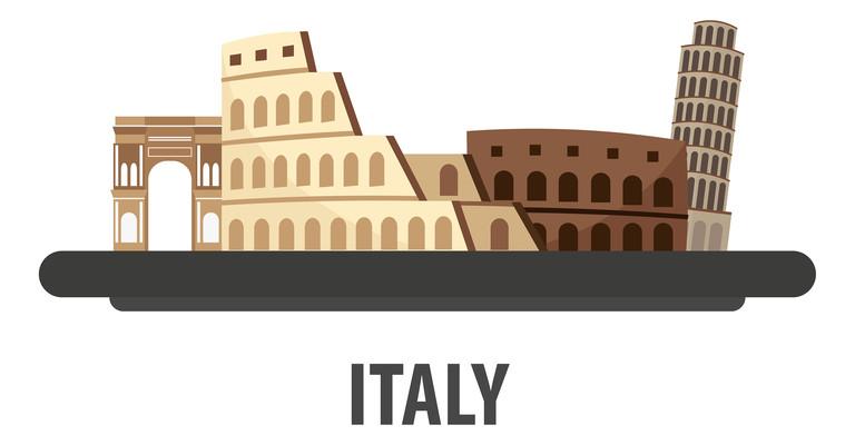 手绘卡通意大利共和国