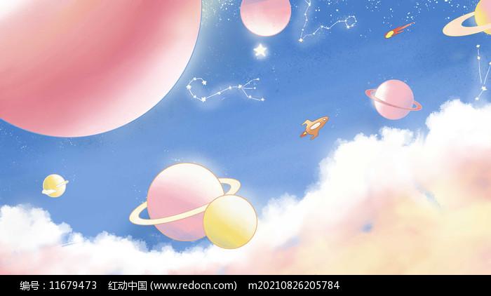 唯美天空星空图片