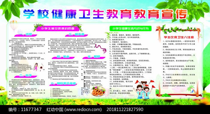 学校健康教育宣传栏设计图片