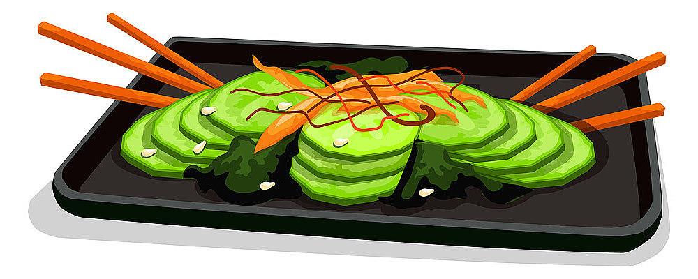 卡通凉拌黄瓜菜品