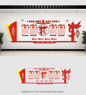 学党史悟思想文化墙