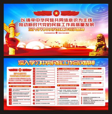 中央民族会议展板设计