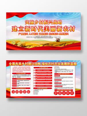 乡村振兴战略宣传展板设计