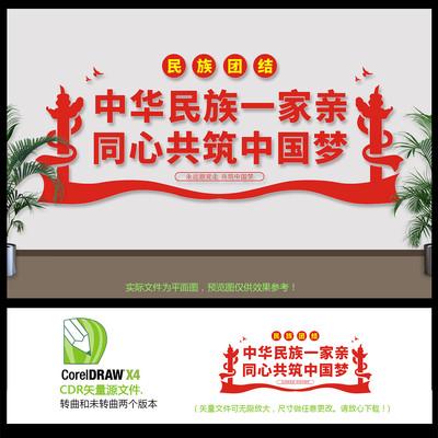 党建民族团结文化墙设计