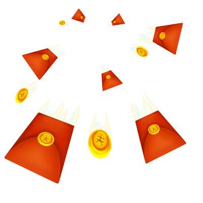 红包金币透视强烈冲击感促销福利红包雨