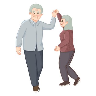 老年人娱乐活动跳舞