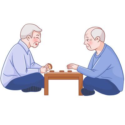 老年人娱乐活动下棋