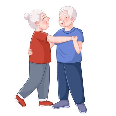 老年人娱乐跳舞
