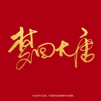 梦回大唐书法毛笔字体设计