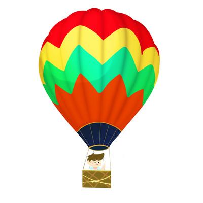 热气球儿童卡通手绘彩色气球