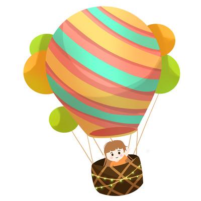 热气球儿童女孩可爱卡通糖果色热气球
