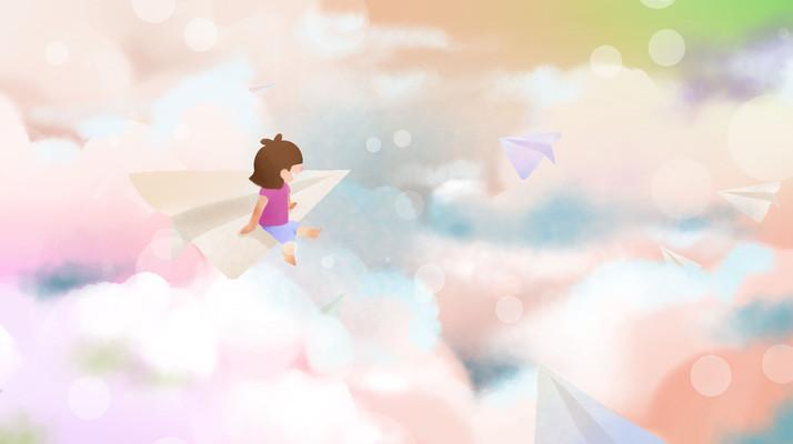 唯美水彩天空
